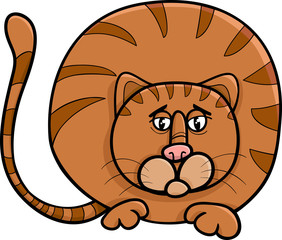 fat cat character cartoon illustration