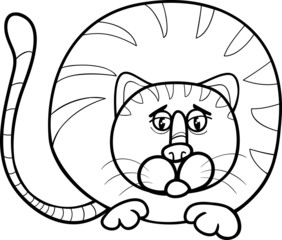 fat cat cartoon coloring page