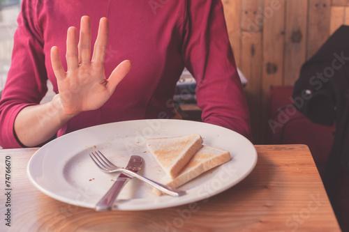 Woman on gluten free diet - 74766670