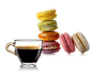 Caffè Espresso con Macaron