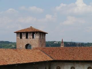 Castle Vecchio or old castle in Verona in Italy