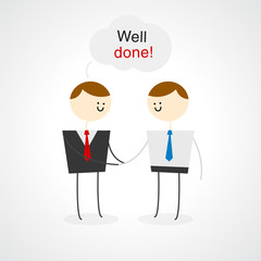 Business people illustration - Well done