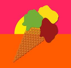 Crème glacée pop