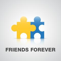 Friends forever puzzle concept
