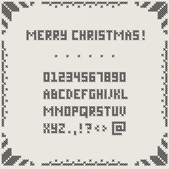 Merry Christmas embroidery font
