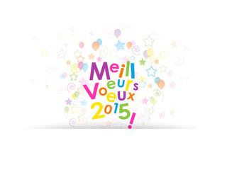 """Carte """"MEILLEURS VŒUX 2015"""" (noël bonne année joyeuses fêtes)"""