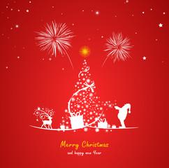 Weihnachten Baum Silvester