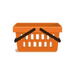 Simple vector shopping carts. Without gradients.
