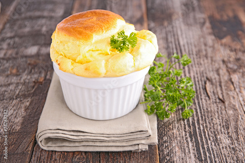 Foto op Canvas Zuivelproducten cheese souffle
