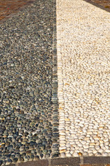 near mozzate street lombardy italy  varese abstract   pavement o