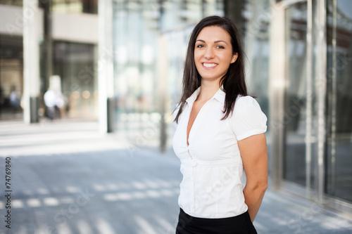 canvas print picture Portrait of a smiling businesswoman
