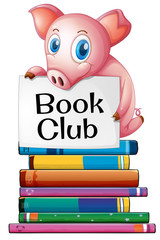 Pig and books