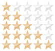 Set of stars, gold and grey