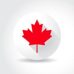 Maple leaf flag, in flat design