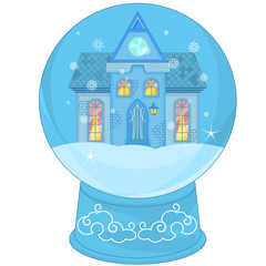 Snow Globe with a little house