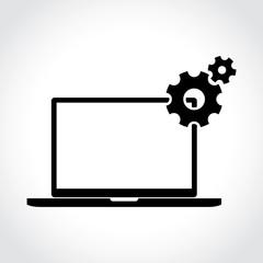 Laptop icon, settings