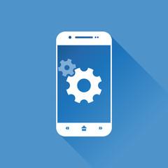 Smartphone, Settings icon