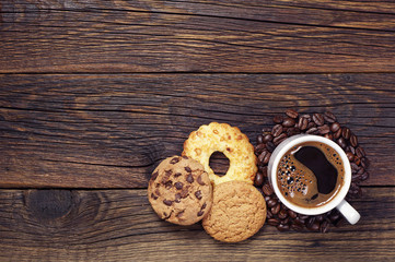Coffee and sweet cookies