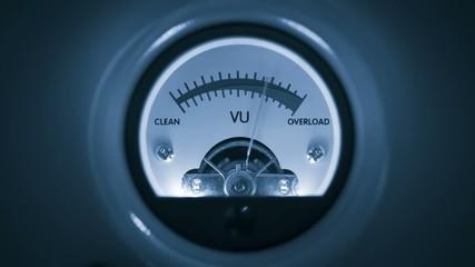 Analog VU Meter blau