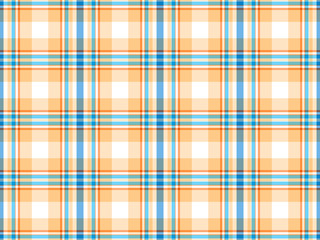 Yellow, blue and white plaid background