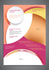 Abstract colored flyer template