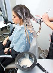 coloring hair preparation