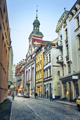A view of ancient buildings in Riga