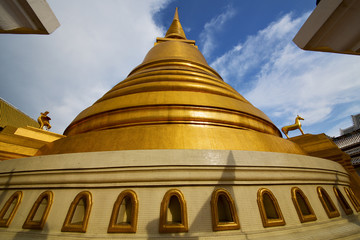 thailand bangkok abstract cross  l gold in the temple  roof wind