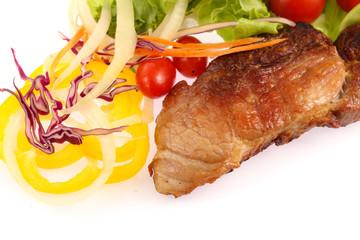 Roast pork with vegetables