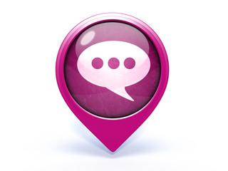 forum pointer icon on white background