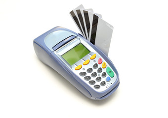 EFTPOS Machine with credit cards