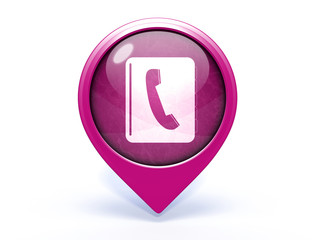 phonebook pointer icon on white background