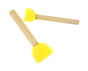 Yellow foam stencil brushes