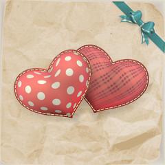 Vintage handmaded valentines day toy. EPS 10