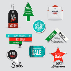 Collection of Sale Discount Styled  Banners