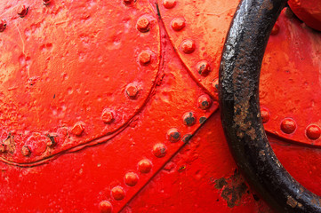 abstraction with close-up of buoy