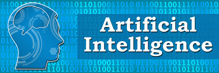 Artificial Intelligence Binary Head Banner