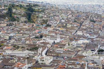 Downtown of Quito from Panecillo hill, Ecuador