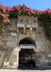 Fortified gateway of old Ottoman city walls in Kos, Greece