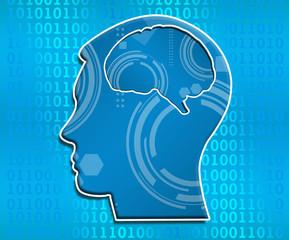 Artificial Intelligence Binary Head Square