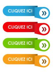 """Bouton Web """"CLIQUEZ ICI"""" (s'inscrire réserver acheter)"""