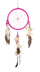 Pink Dream catcher in White background