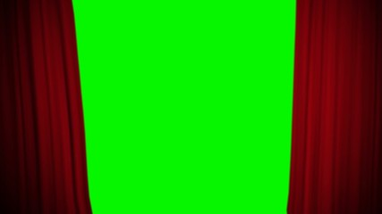 Opening Red Curtain Greenscreen
