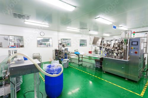 pharmaceutical factory workshop interior - 74773885