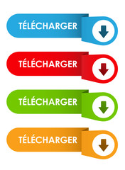 "Bouton Web ""TELECHARGER"" (poster télécharger pdf vecteur)"