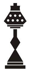 Lamp, black silhouette