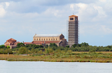 bell tower in the Torcello Island near Burano