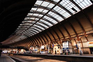 train station in York, UK