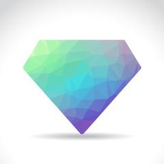 Polygonal diamond illustration