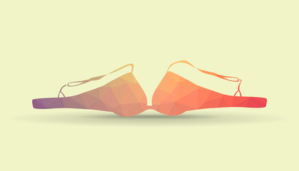 Bra from polygons, illustration